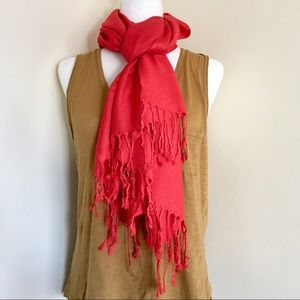 Accessories - Poppy Red Pashmina